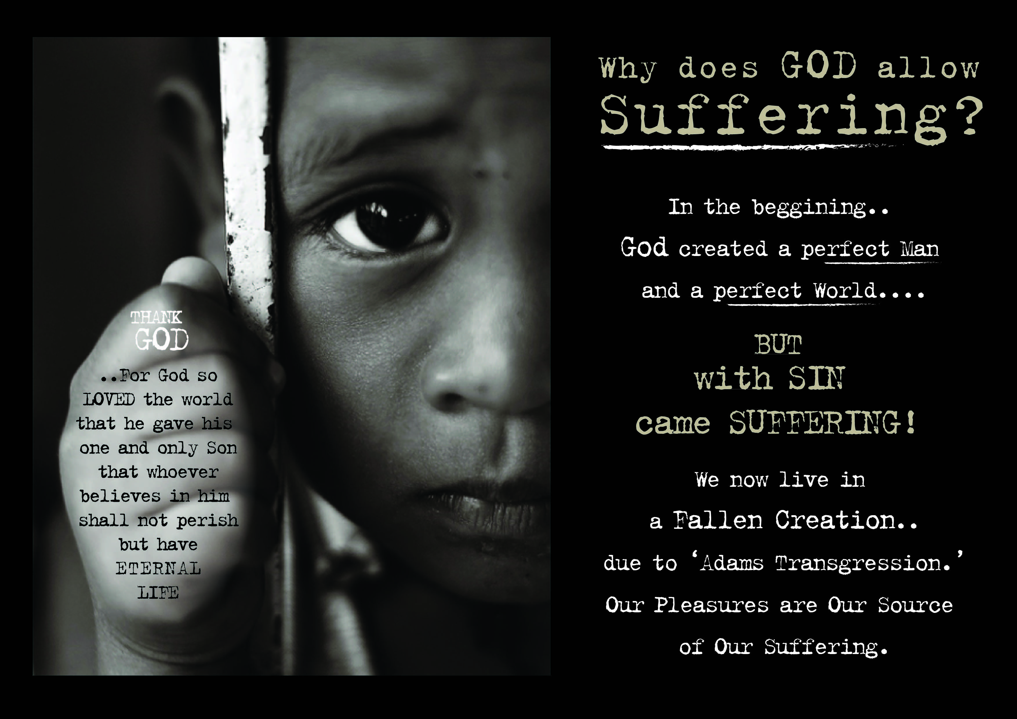 Suffer to children does why god allow Why Does