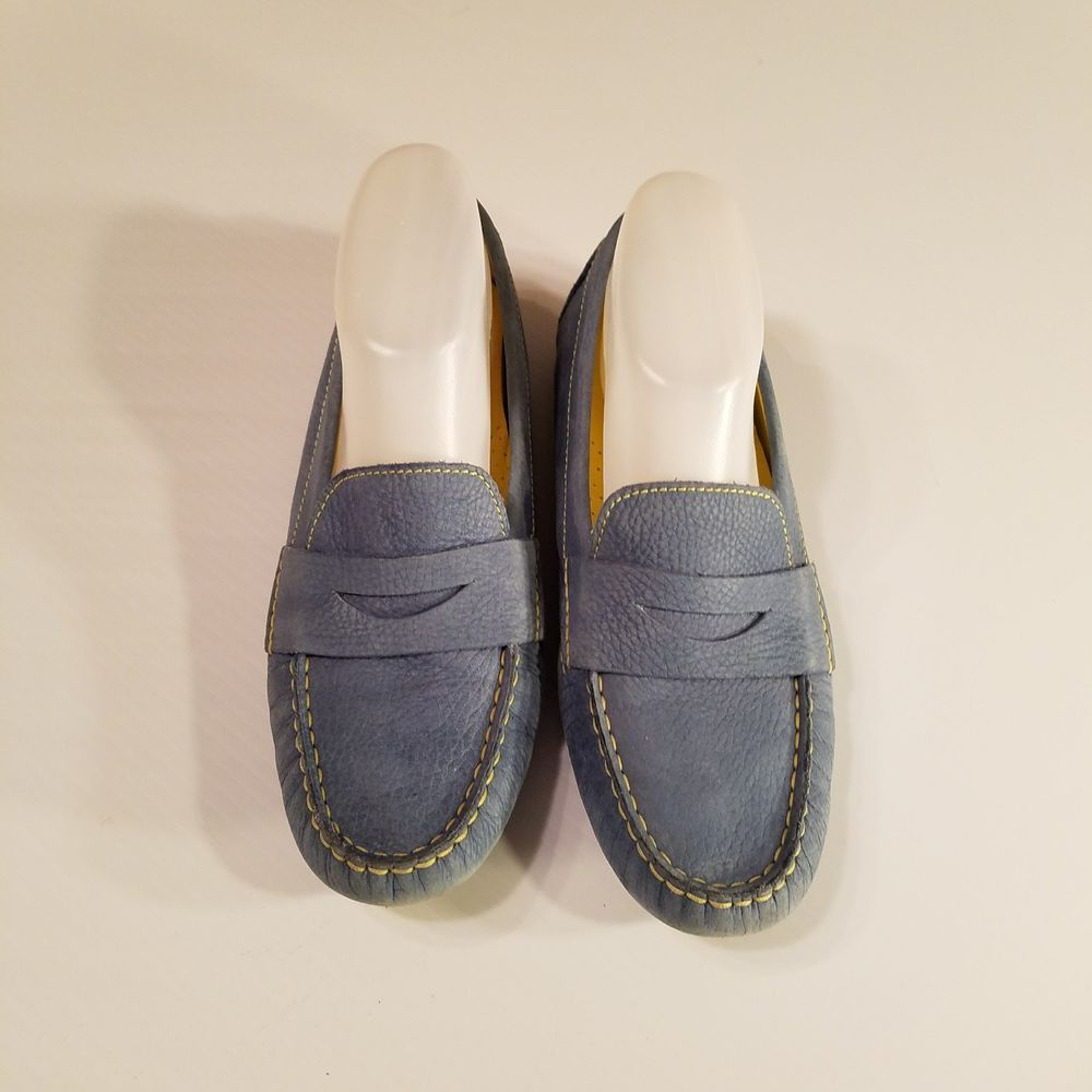 COLE HAAN Nike AIR blue yellow pebbled