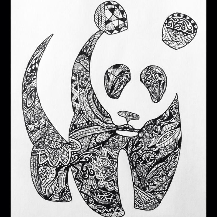 panda tattoo zentangle - Google Search | Drawing book | Pinterest ...