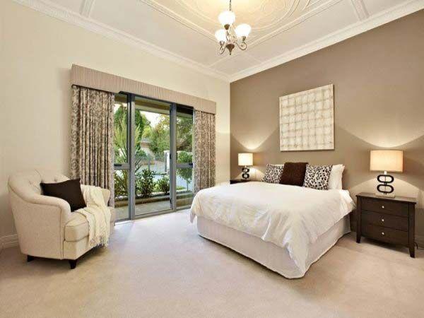 15 fotos e ideas para pintar un dormitorio color beige - Pintar pared dormitorio ...