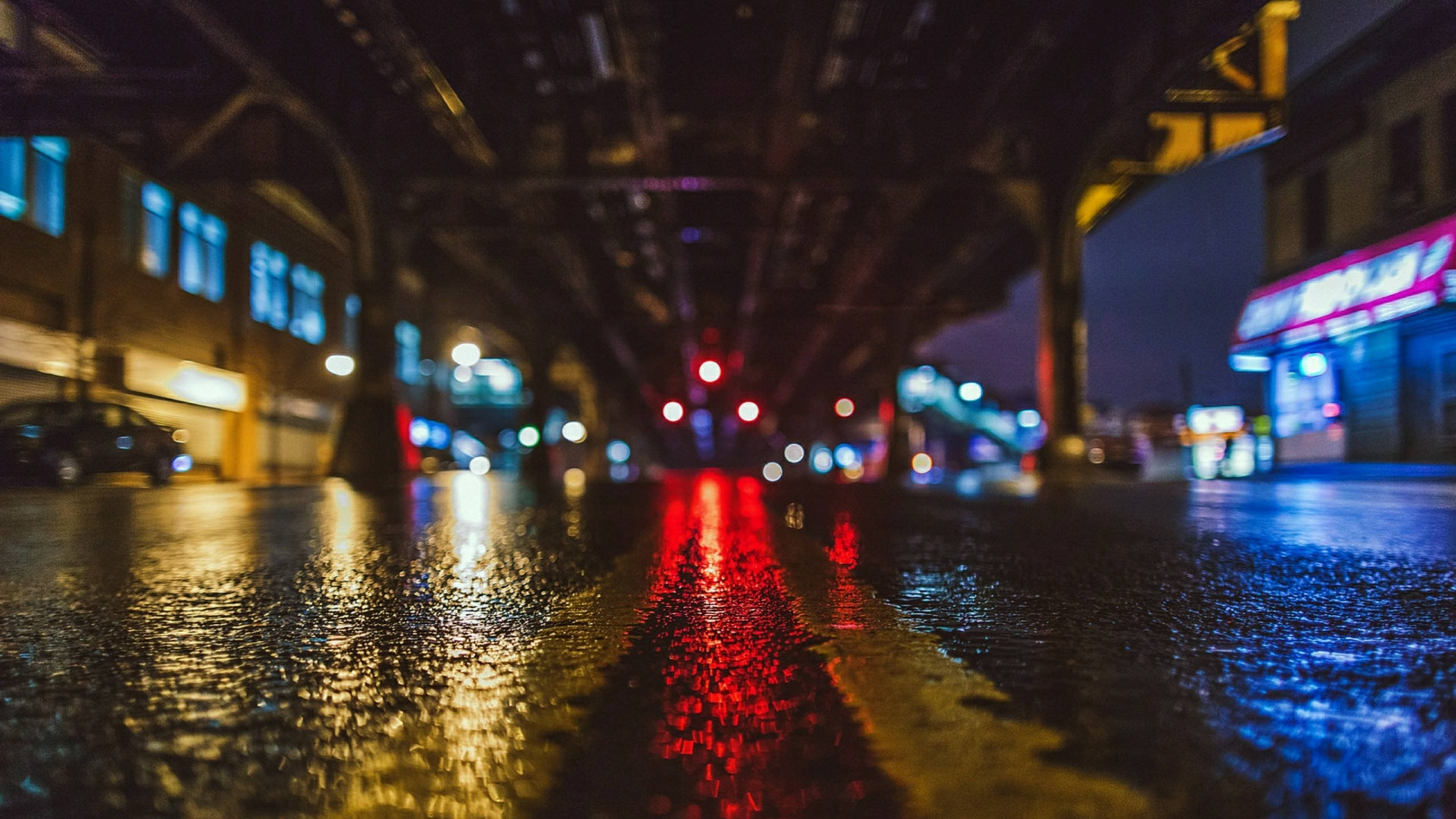 Streetlight 4k Wallpaper City Lights Wallpaper City Rain Cityscape
