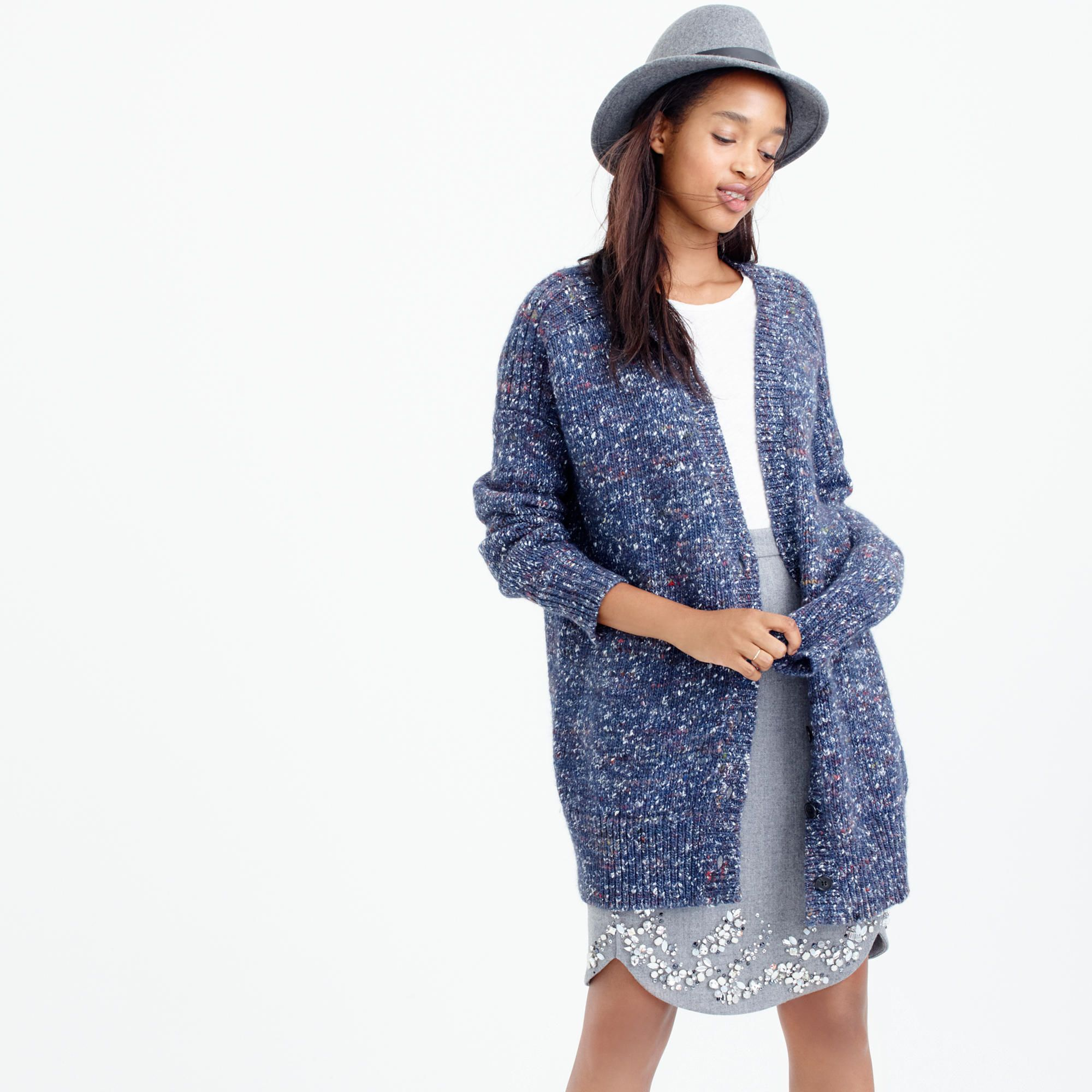 Collection chunky marled cardigan sweater : Cardigans | J.Crew