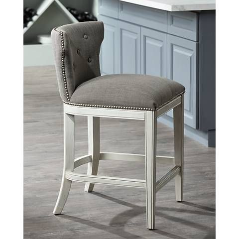 Brilliant Marisol 26 1 4 Erin Pewter Allegro Gray Counter Stool Pabps2019 Chair Design Images Pabps2019Com