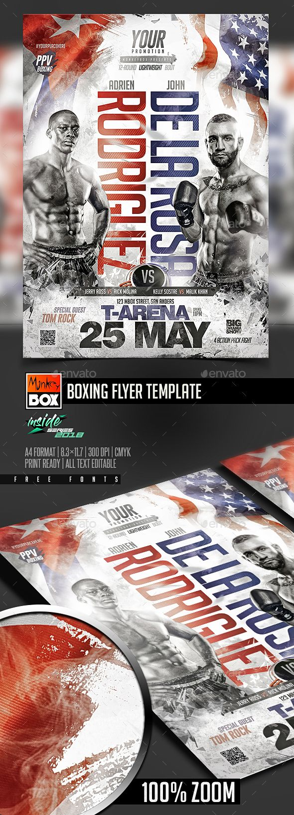 Boxing Flyer Template — PSD fitness boxing