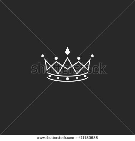 Royal symbol icon, monogram crown logo, beauty tiara princess, medieval king coronation emblem #crowntiara