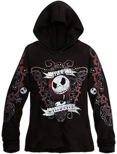 The Nightmare Before Christmas Jack Skellington Women's Hoodie ...
