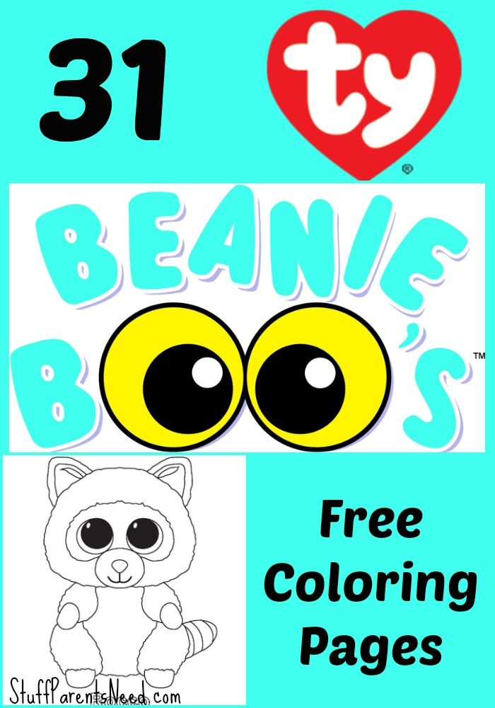 Free Beanie Boos Coloring Pages Beanie Boo Party, Beanie Boo Birthdays, Beanie  Boo