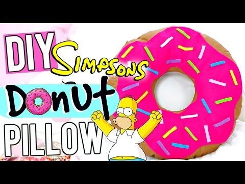 DIY The Simpsons Donut Pillow! // How To TUMBLR Donut Pillow - YouTube