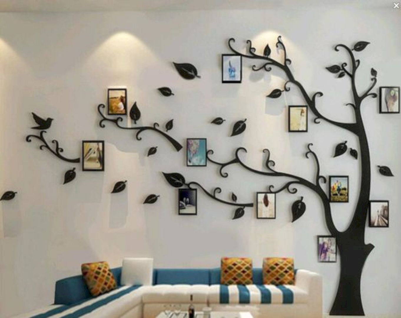 15 Fabulous Decorating Ideas Using Wall Stickers Family Tree Wall Tree Wall Decal Living Room Wall