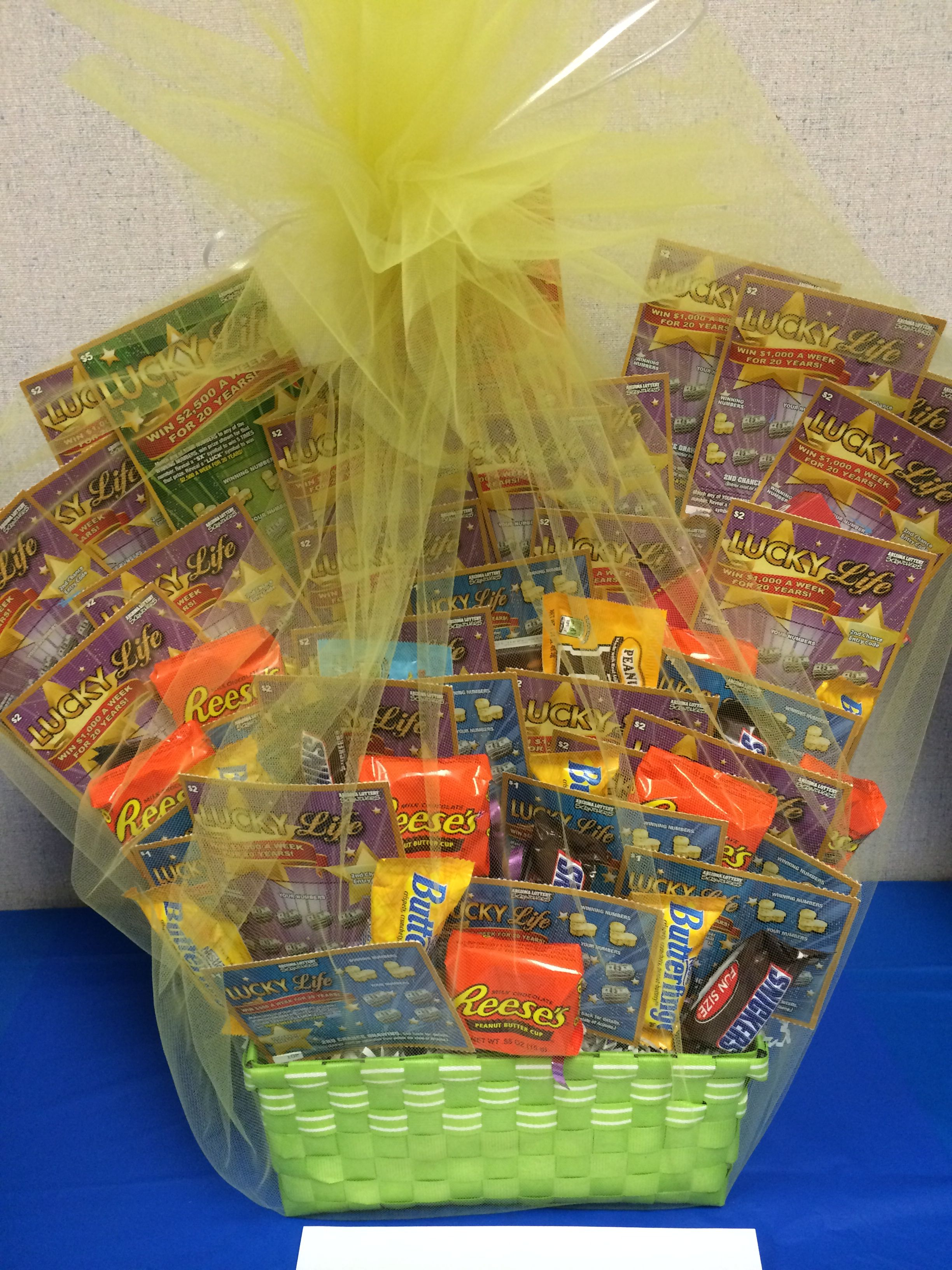 Lottery Basket Also Just Love The Candy Basket Idea For The