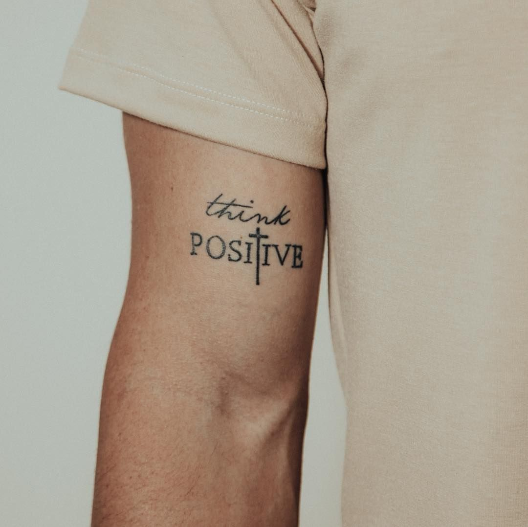 think positive tattoo - HD1080×1078