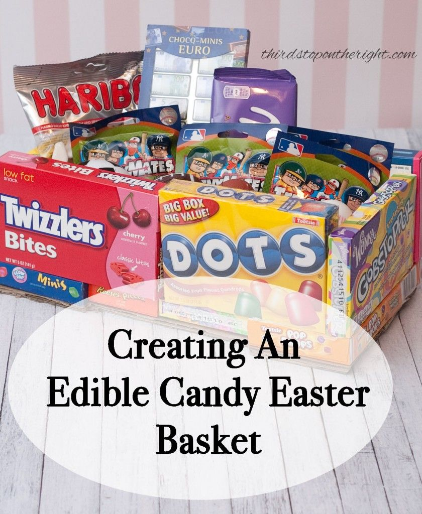Creative Easter Basket alternative -- Edible Candy Easter Baskets with candy boxes!