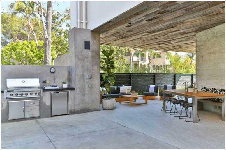Außenküche Selber Bauen Mit überdachung : Außenküche selber bauen terrasse überdachung betonwände