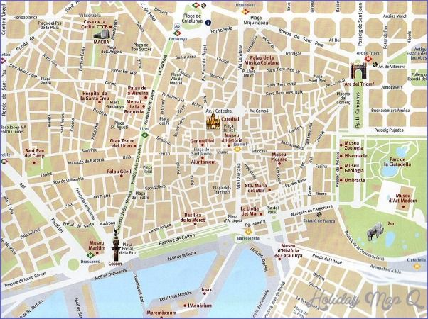 awesome barcelona map tourist attractions