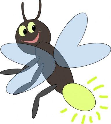 Fire Cartoon Light Bug Fly Lighting Bugs Clip Art