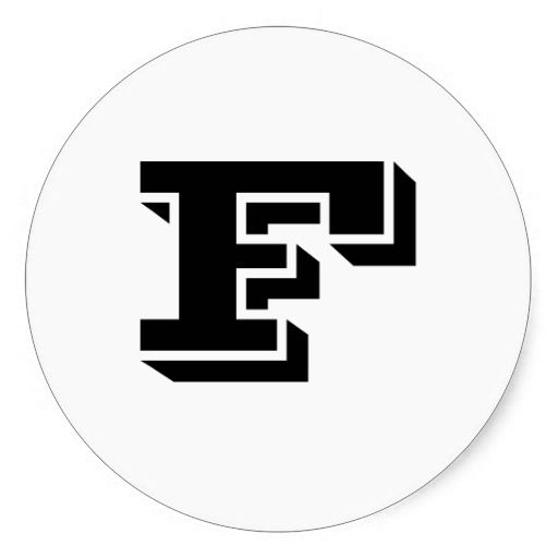 Capital letter f large round stickers by janz