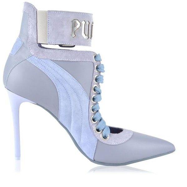 fa1d5e0d152 Fenty Puma By Rihanna Lace Up Heels ($415) ❤ liked on Polyvore ...