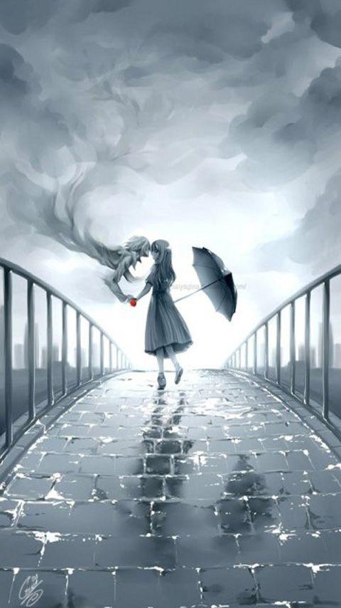 Ghost Love Mobile9 Rain Illustration Anime Art Art