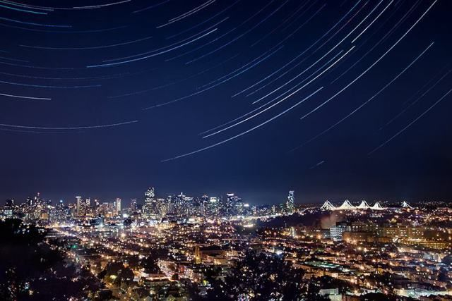 Image result for bernal height sf night