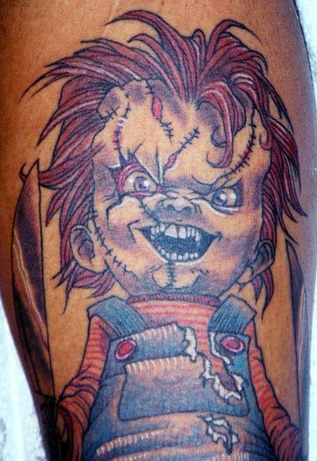 Tattoomanchucky : tattoomanchucky, Tattoos, Chucky, Child's, Tattoo,, Tattoos,, Cartoon