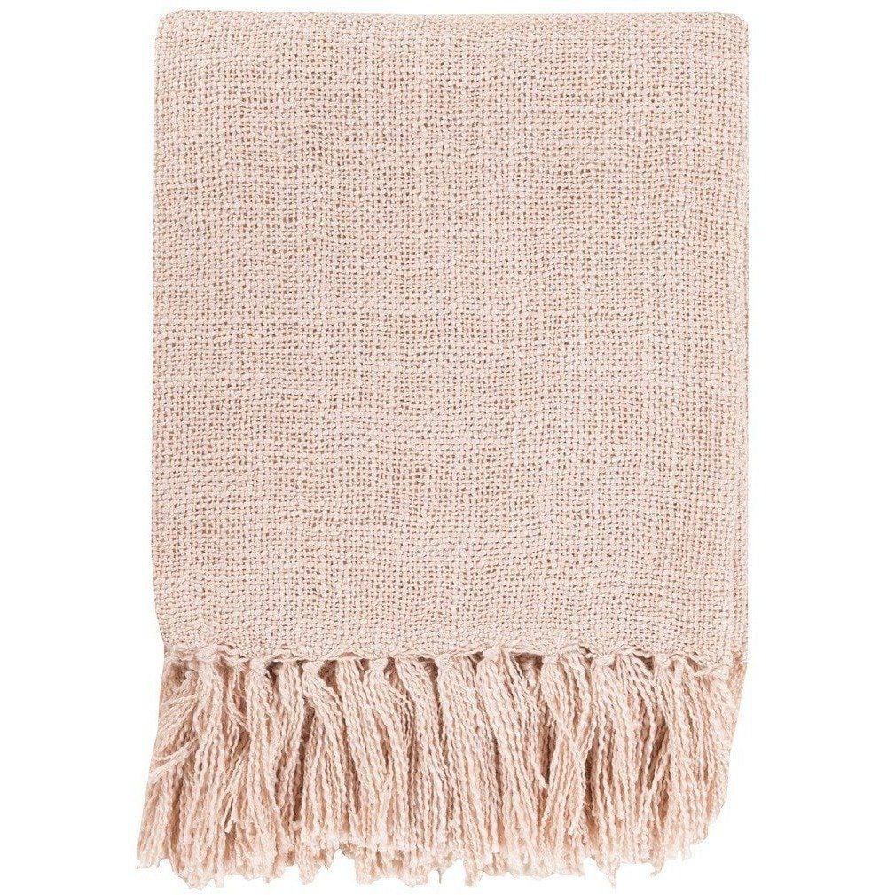 Blush Pink Throw Blanket Belize Fringe Pale Pink Throw  Pink Throws Pale Pink And Cozy