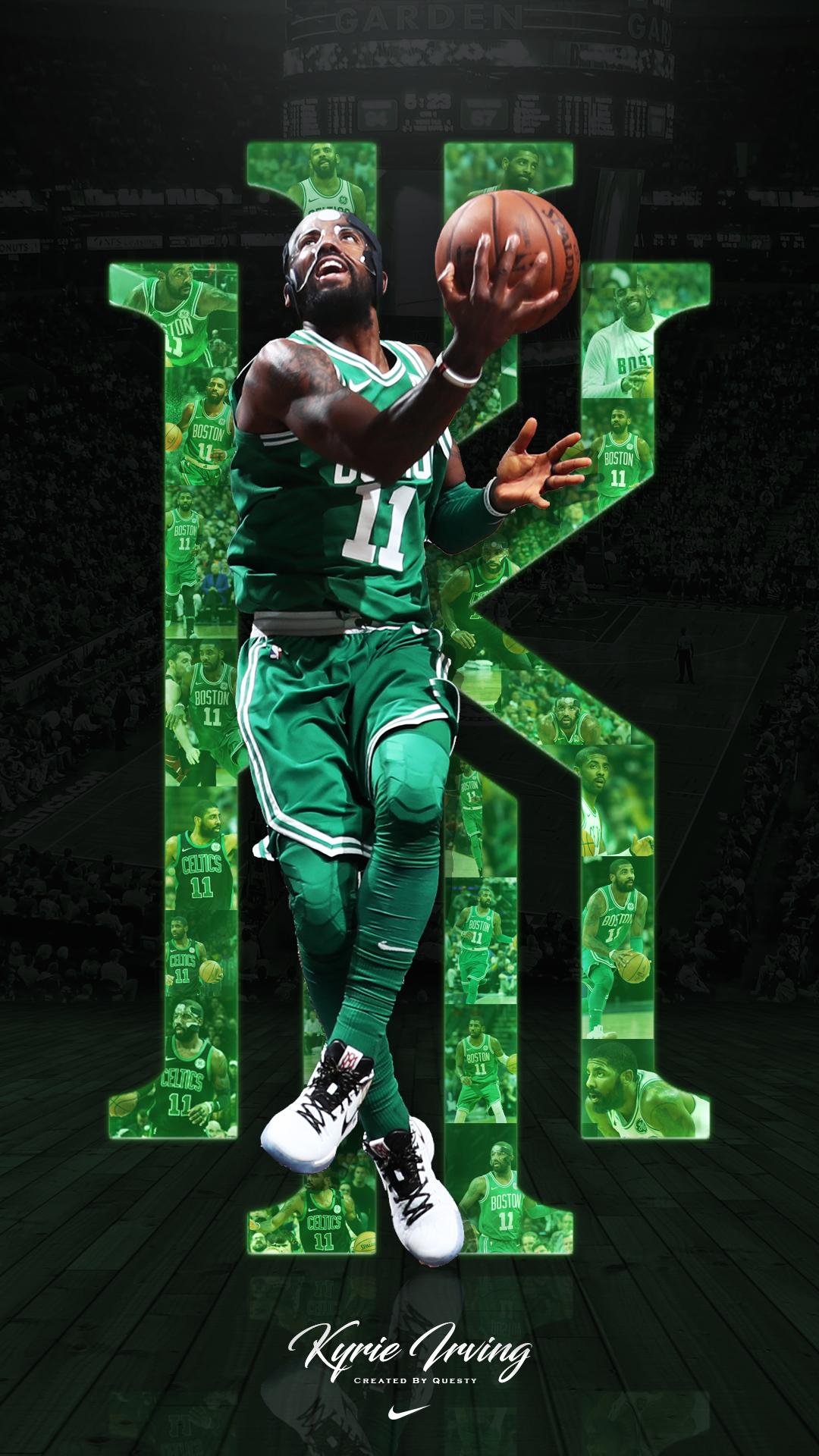 Cartoon Kyrie Irving Phone Wallpaper In 2020 Basketball Wallpaper Kyrie Irving Celtics Irving Wallpapers