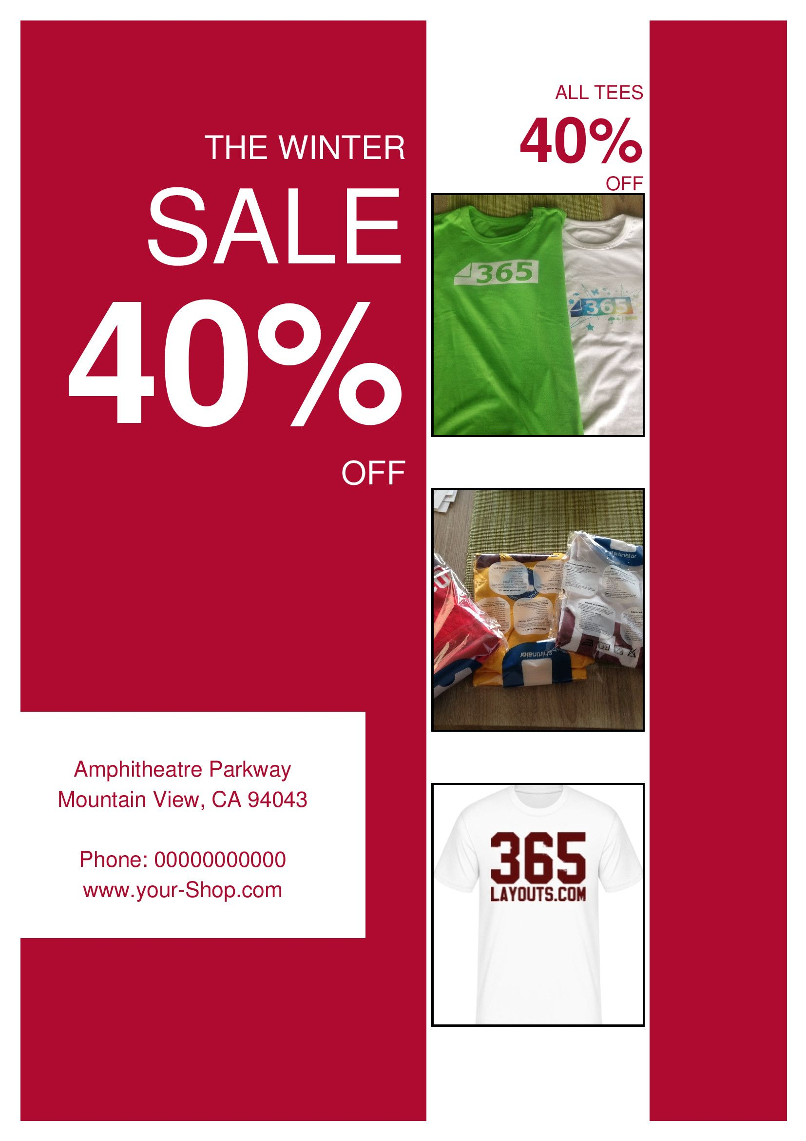 Product Sale Flyer Template Ads Big Deals Blue Christmas