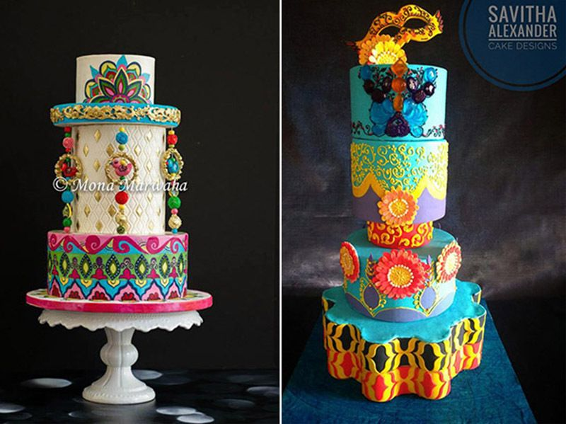 Cake Trend Alert - Polished Prints made with Satin Ice