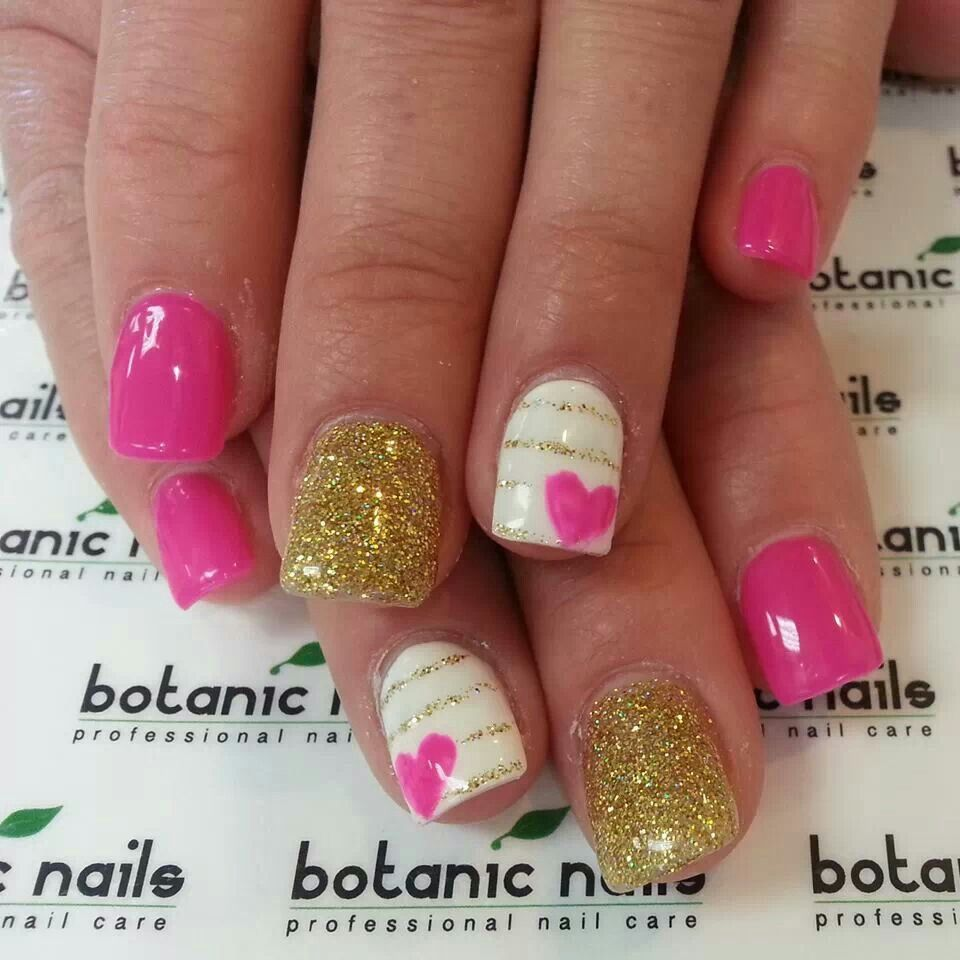 Cute nail design great for valentines day cute nails pinterest