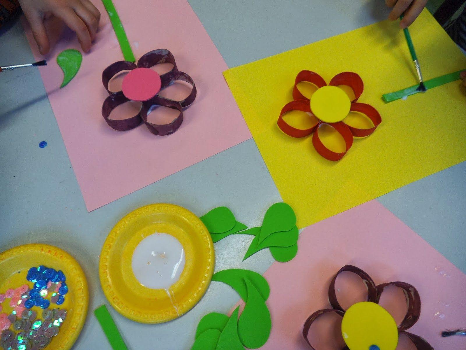 Przedszkolne Inspiracje Kwiaty Na Dzien Kobiet