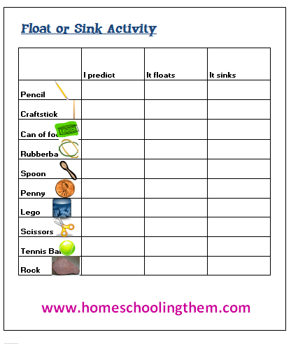 Worksheets Buoyancy Worksheet collection of buoyancy worksheet sharebrowse fun science experiment this is the sort activity