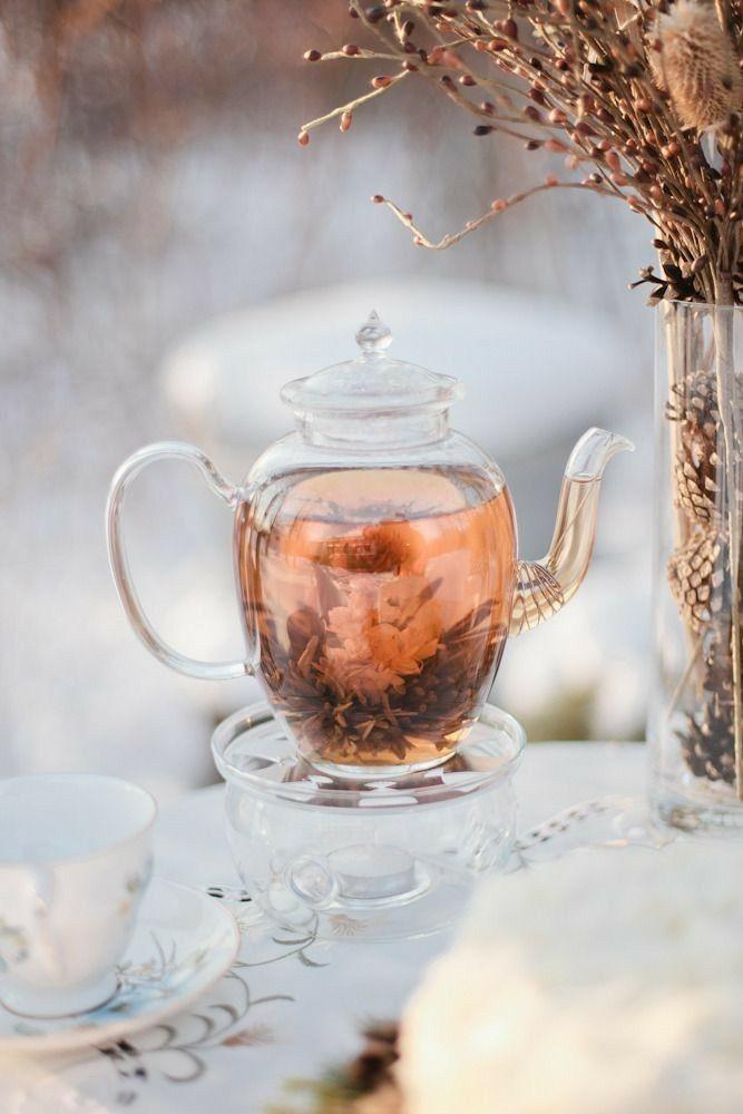 вечерний зимний чай
