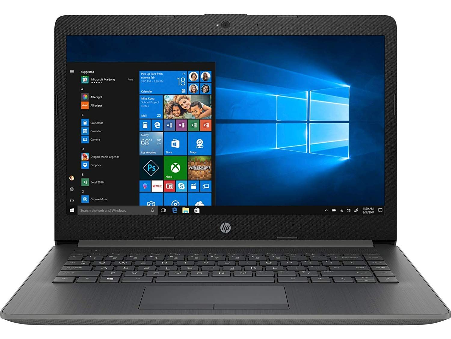Laptop from HP The Laptop is equipped with a 4 GB RAM to