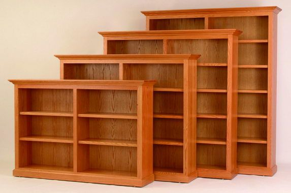 Amish 72 Wide Executive Bookcase Wood Bookcase Amish Furniture Wooden Bookcase