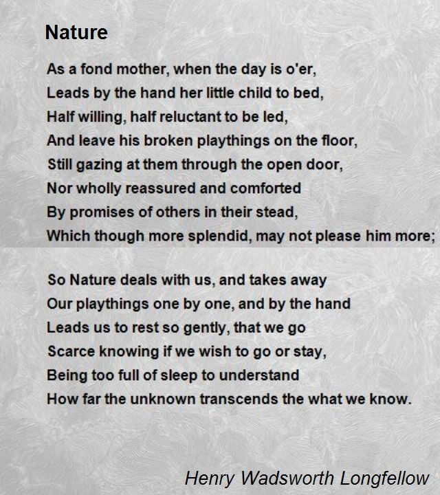 famous poems about nature - Google Search | Poetry is the ...