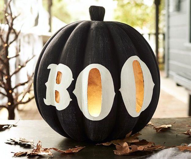 Pumpkin-boo luminaries Halloween  Fall Pinterest