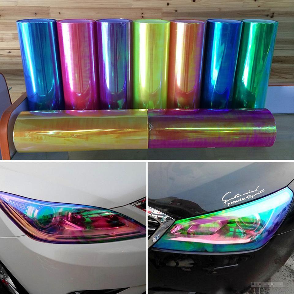*Matte Glitter Green Tint Headlight Taillight Fog Light Vinyl Sheet Sticker DIY