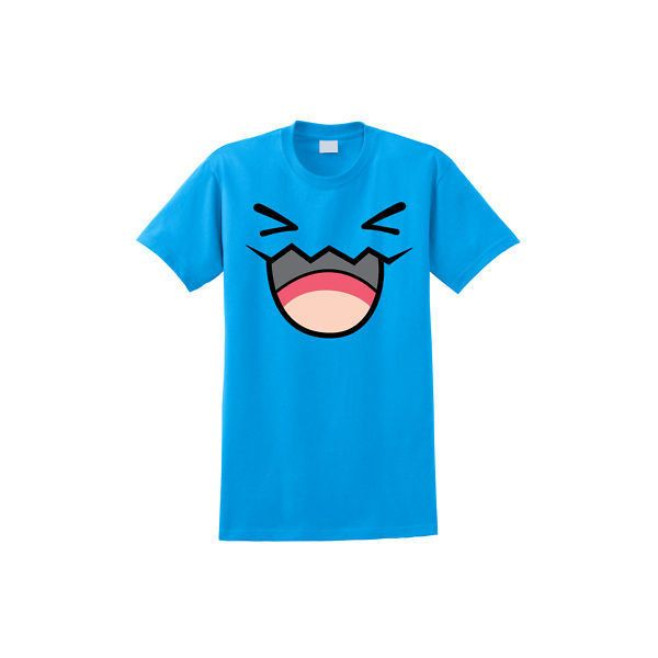 c5e9a137 Pokemon WOBBUFFET T-Shirt Anime Pikachu Front and Back ❤ liked on Polyvore  featuring tops, t-shirts, pokemon, shirts, animal tops, blue t shirt, ...