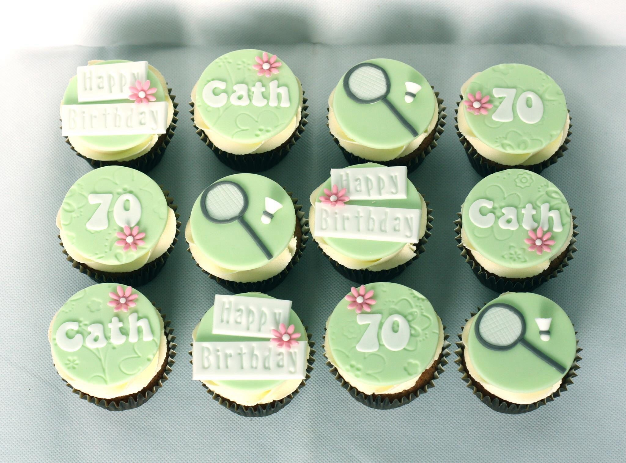 Th Birthday Cupcakes For A Lady Who Loves Badminton Www - Birthday cakes 70th ladies