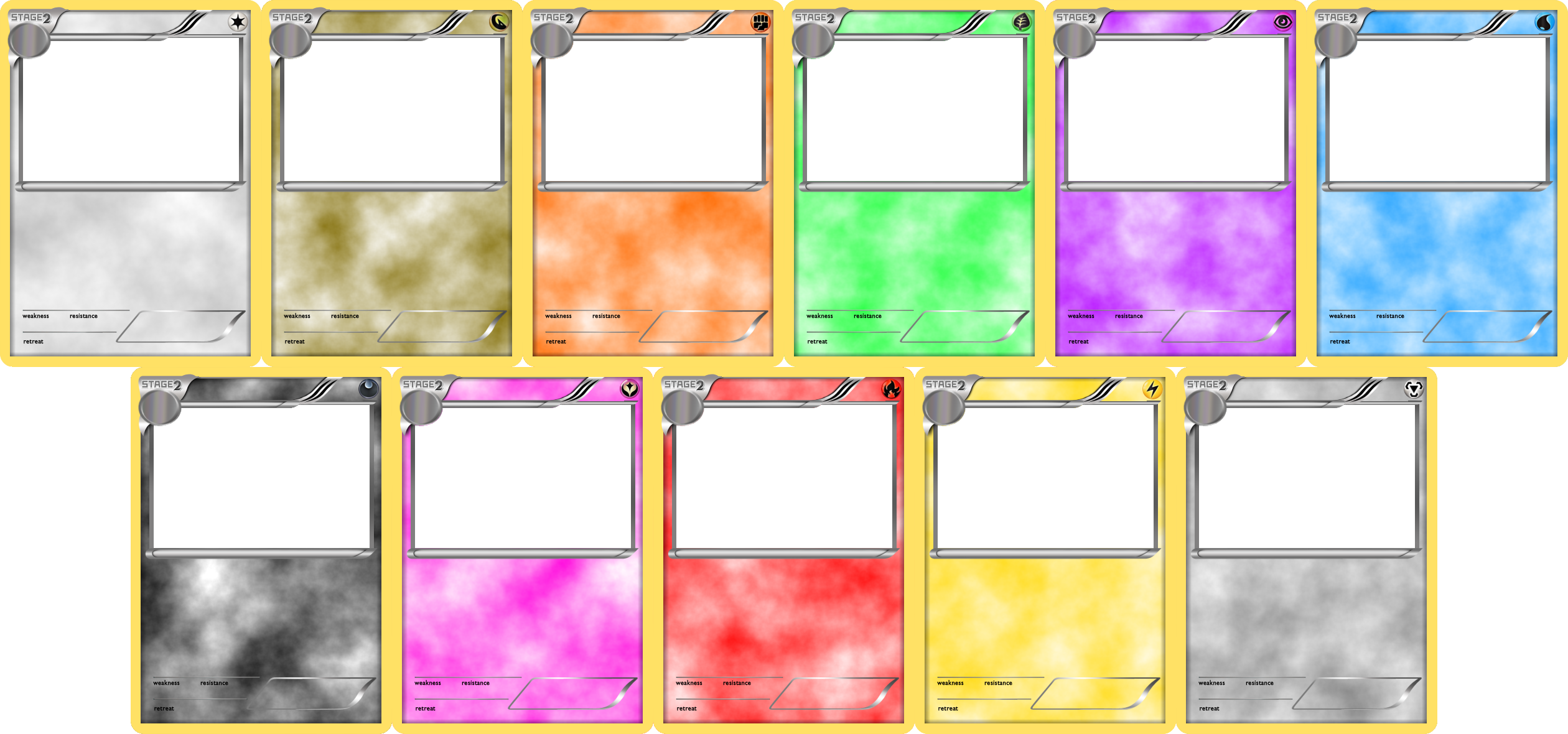 Pokemon Blank Card Templates Stage 2 By Levelinfinitum Pokemon Card Template Trading Card Template Blank Card Template