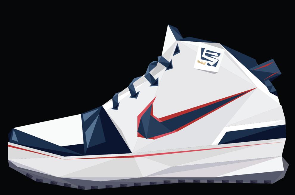 Vector Shoes Lebron James Signature Sneakers Fashion Nike