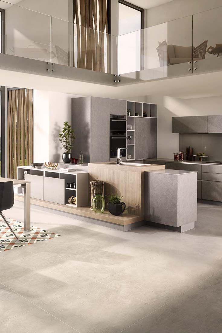 Helle Farben kombiniert mit schlichten Beton- und Holzoptiken sind ...