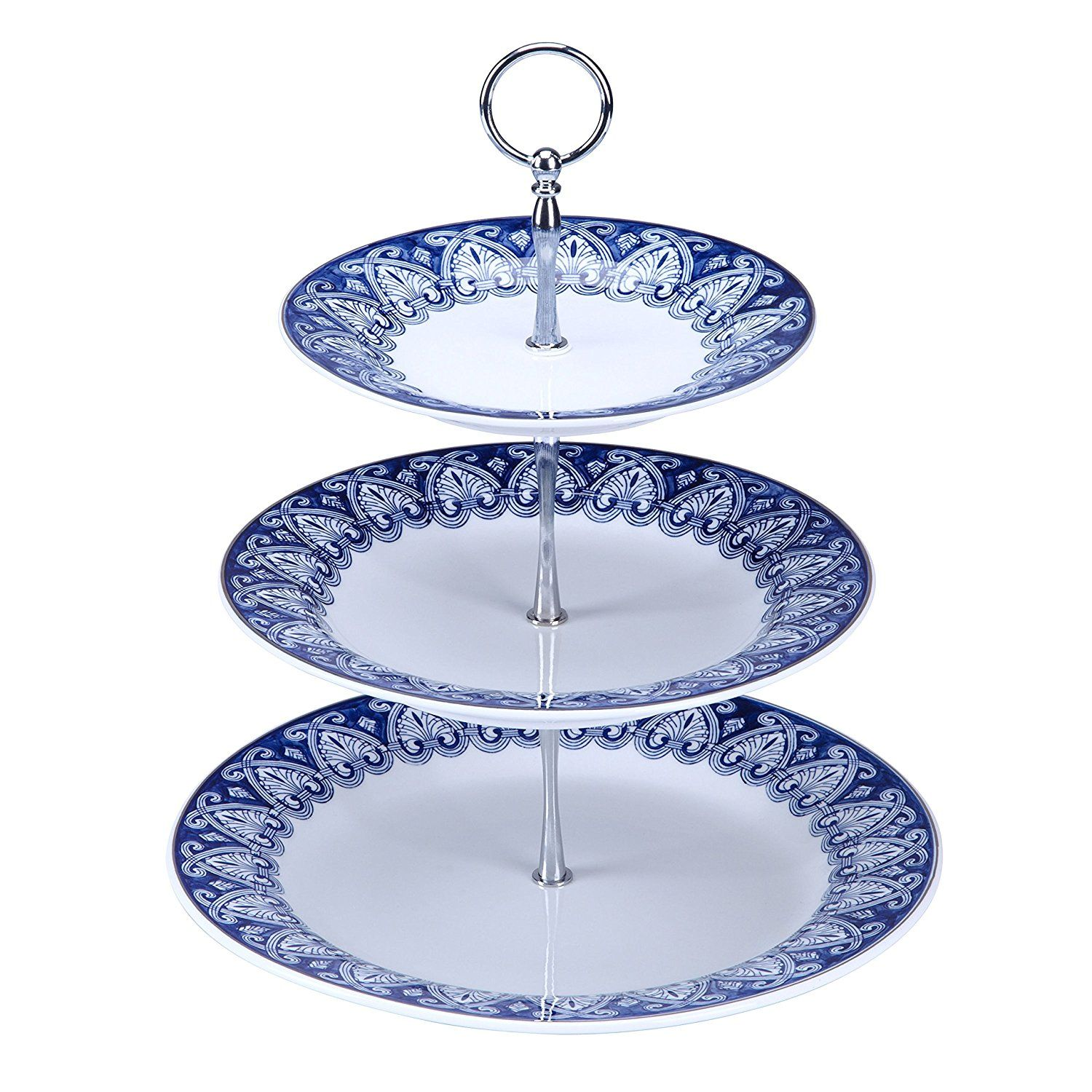 Bombay Company Tile 3 Tier Server Canapy Blue And White Continue To The Product At The Image Link Tiered Server Tiered Stand Blue And White