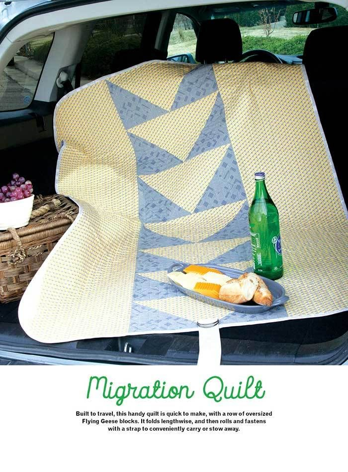 Make a quick car quilt and store it in the back seat. Find all the how-tos and fabric now. The latest Sew it All 10 is now on newsstands and online shops.