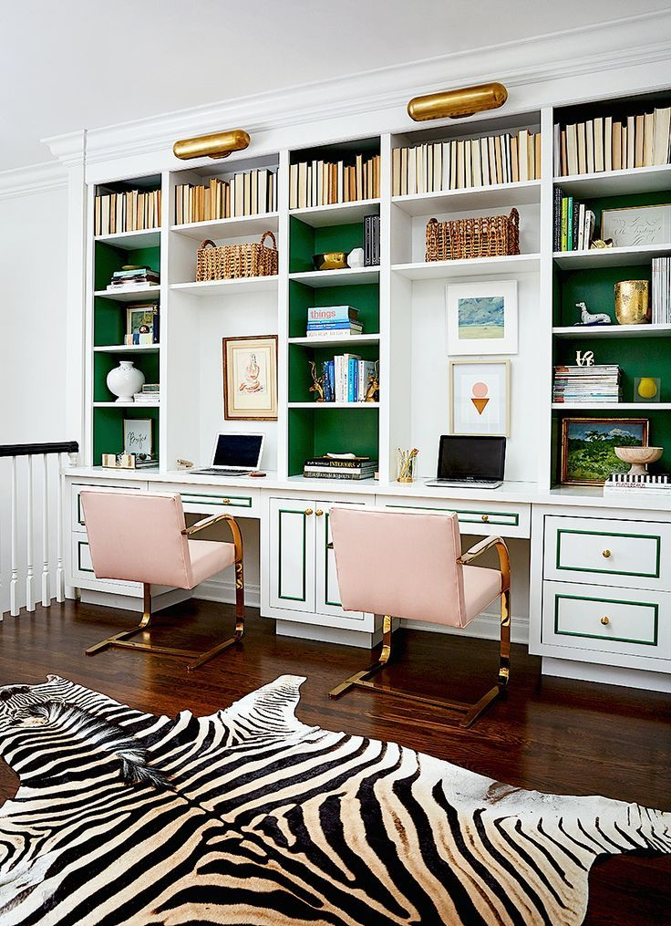 home office decor luxury interior design ideas pink and green