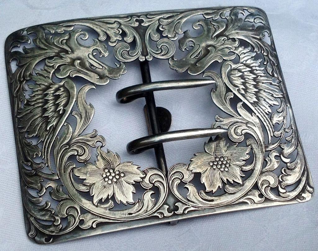 Fabulous Antique Victorian Sterling Silver Floral Belt ...