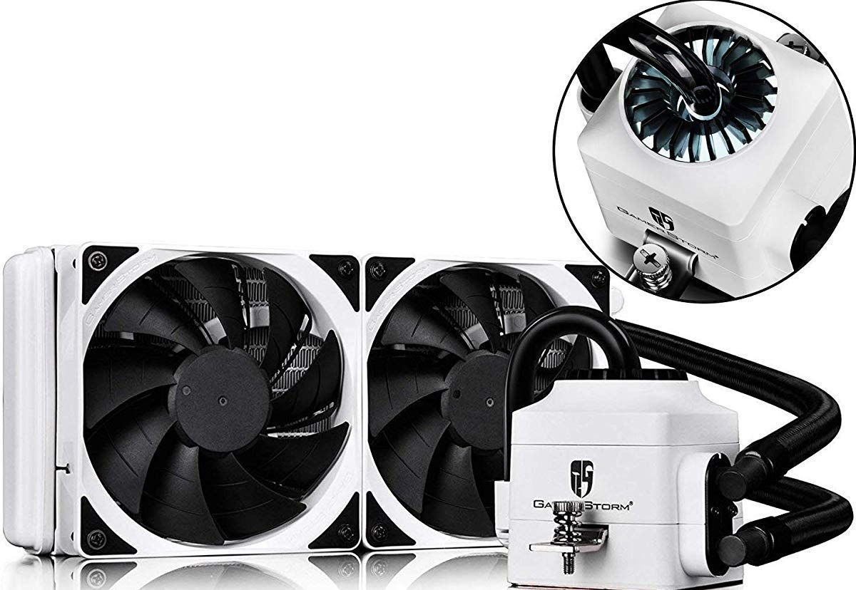 Deepcool Captain 240ex White Aio Liquid Cpu Cooler White Led Waterblock 240mm Radiator Dual 120mm Black Pwm Fans White Am In 2020 Cooler Cooler Reviews White Lead
