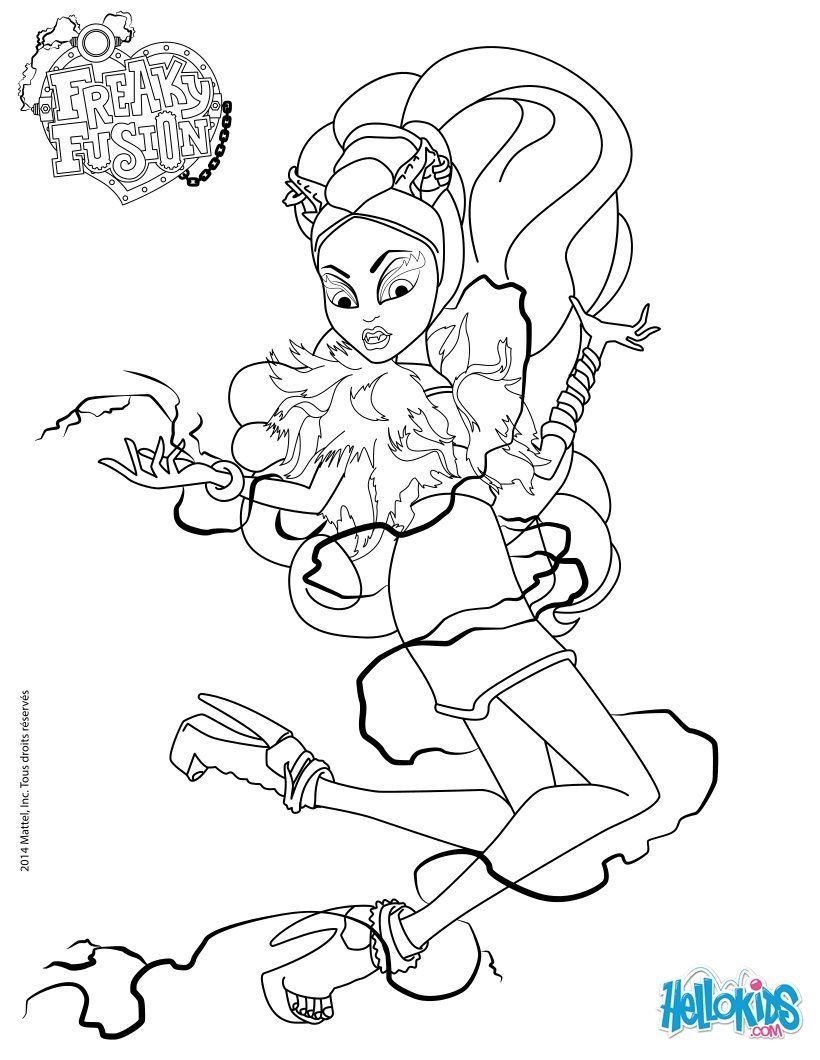 monster high freaky fusion clawvenus coloring page - Girls Coloring Pages Monster High