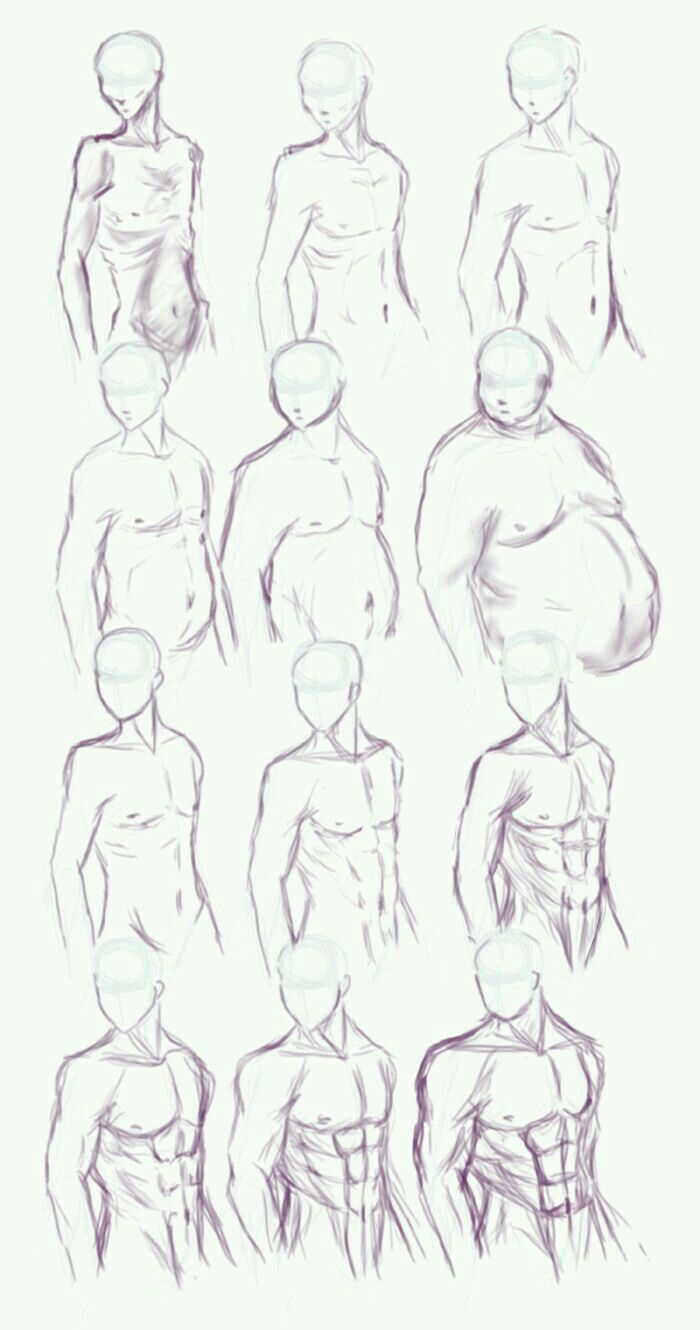 Make body types side view | Drawing | Pinterest | Bodies, Drawings ...