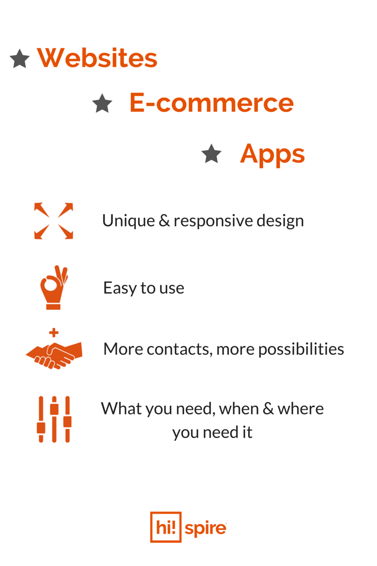 Starting a new business and need a website? Have one already that you'd like to spiff up a bit? Have an online store that needs to be optimized? Have a great idea for an app? Whatever the nature of your project, we can guide you through the best options for you and your business. #GetInTouch